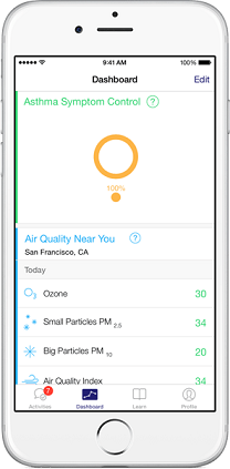 Ashtma App for Apple ResearchKit