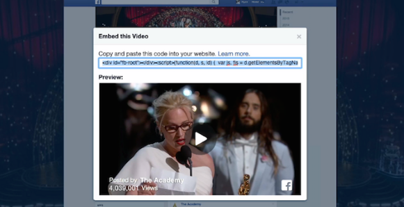 Facebook Embedded Videos