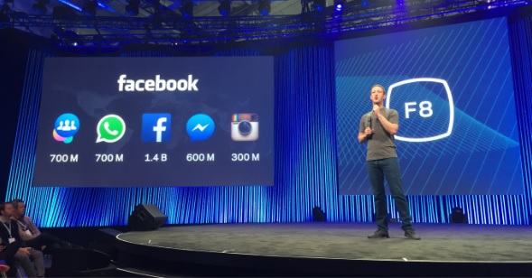 Mark Zuckerberg Announcing Facebook F8 Event