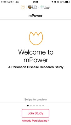 Parkinson mPower App for Apple's ResearchKit