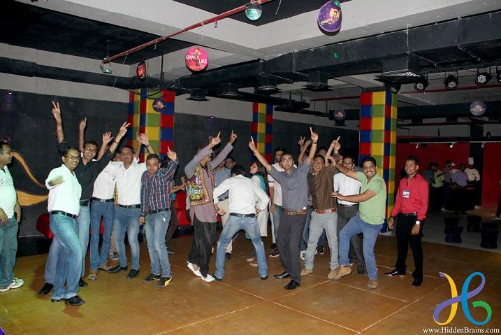 Hidden Brains Convergence 2015 - HBians Dancing on Dance Floor
