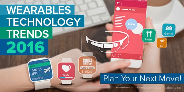 Banner of Wearables Technology & Application Trends 2016 Article