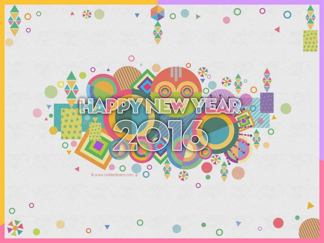 Hidden Brains Wishing Happy New Year 2016