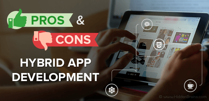 hybrid vs native app development pros cons banner