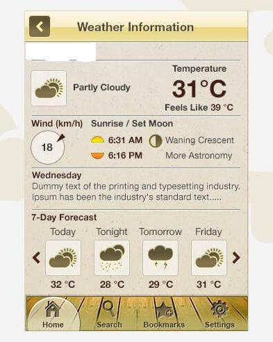 Weather Forecast, Offline Site Map and Navigation