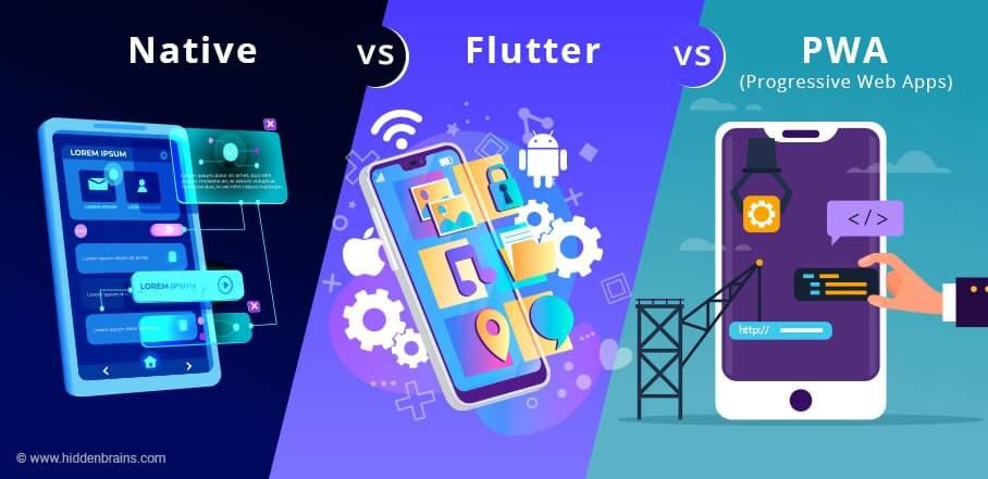 Flutter vs React Native vs PWA