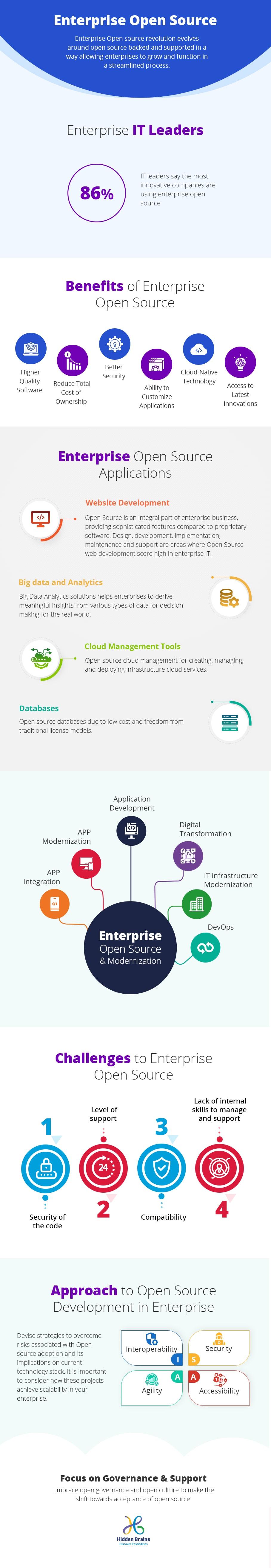 Open Source Web Application Development in Enterprises