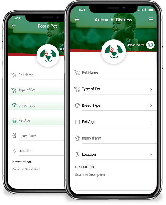 Lost & Found Animal mobile app
