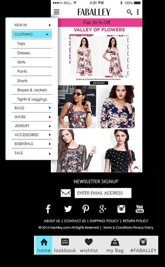 faballey online shopping app development