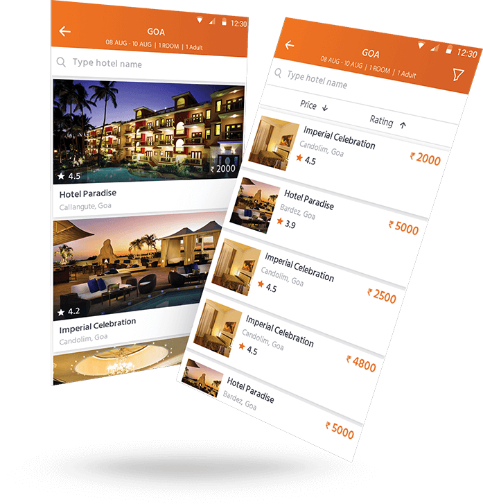 travel booking app development services