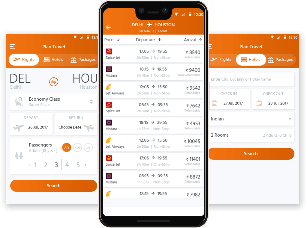 Mobile App with Hotel and Flight Booking Integration